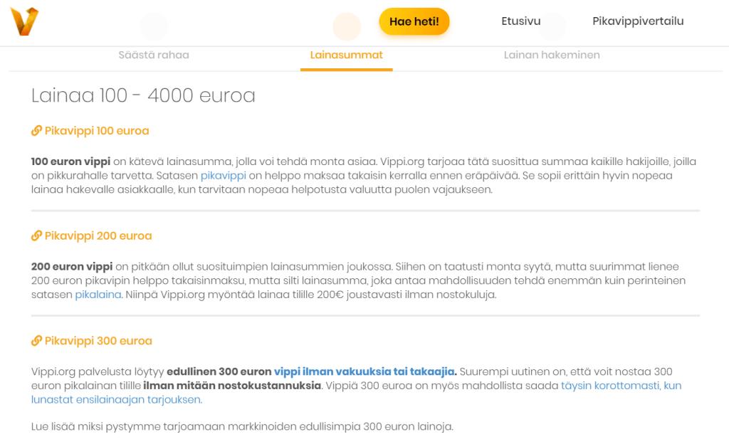 Vippi.org tarjoaa uudistettua lainaa joustavilla ehdoilla